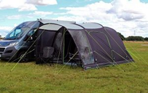 inflatable driveaway awning outdoors