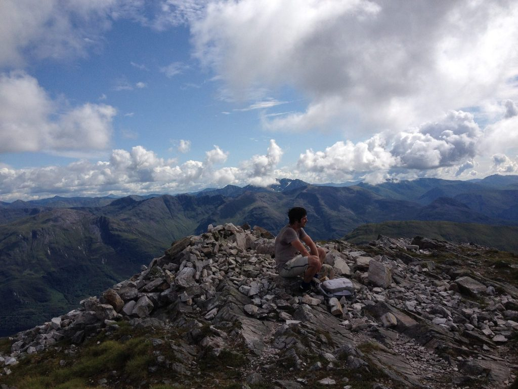 mountain climbing in scotland
