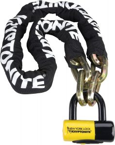 motorcycle lock and chain from kryptonite
